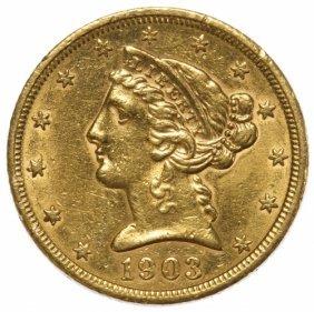 1903-s $5 Gold Au Details