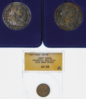 Civil War Token Au-58 Anacs And America's First 8