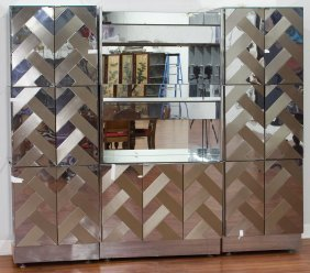 Ello Modern Mirror And Stainless Steel Dry Bar