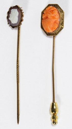 10k Gold Cameo Stick Pin