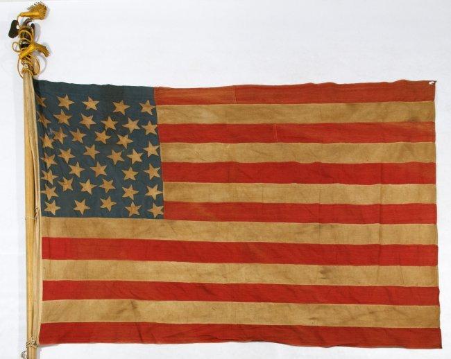38 Star American Flag Lot 449