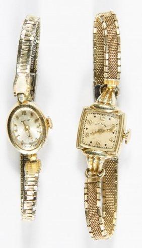 14k Gold Case Ladies Wrist Watches