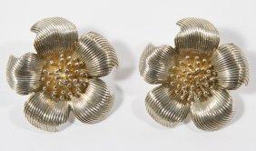 Tiffany & Co Sterling Silver 'dogwood' Flower Clip