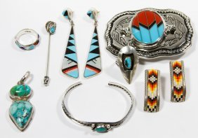 Navajo Sterling Silver Jewelry Assortment
