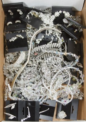 Rhinestone And Crystal Jewelry Assortment