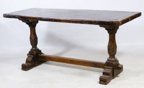 William And Mary Style Trestle Table