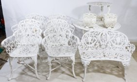 Painted Cast Iron Garden Furniture