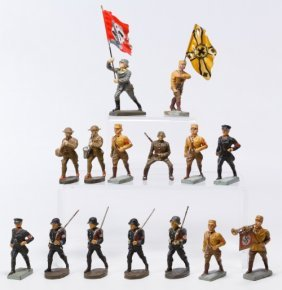 Lineol And Elastolin Composition German Toy Soldiers