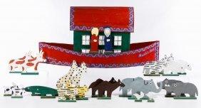 Tubby Brown (20th Century) 'noah's Ark' Painted Wood