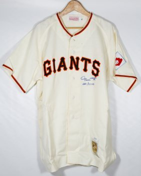 Willie Mays Autographed Jersey