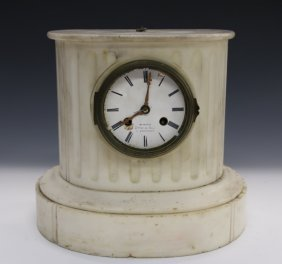 Demueur Marble Mantle Clock