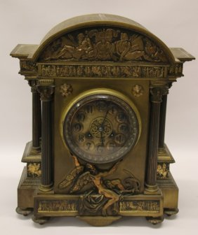 Gilt Bronze Mantle Clock