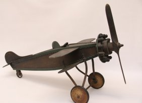 Antique Folk Art Bi-plane