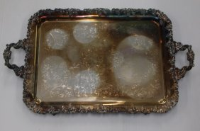 Lg. Silver Plated Tray