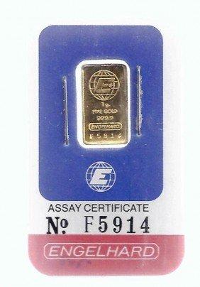 1 Gram Engelhard Gold Ingot Bar