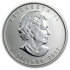 A 1 Oz. Silver Maple Leaf Bullion