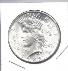 1924 GEM BU Peace Dollar