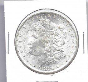 1881 S Morgan SIlver Dollar - DMPL - GEM BU
