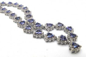 $29,000 Appraised Tanzanite & Diamond Necklace