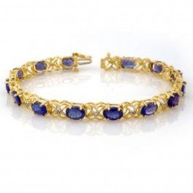 12.05 Ctw Tanzanite & Diamond Bracelet