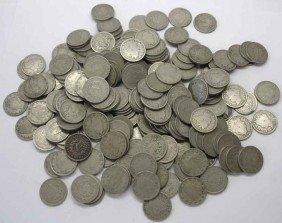 Lot Of 100 V Nickels
