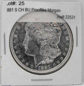 1881 S CH BU Prooflike Morgan