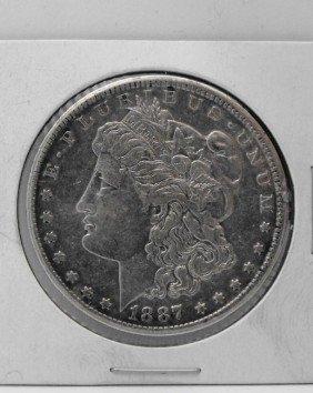 1887 S AU Grade Key Date Morgan