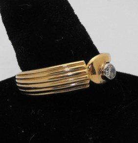 14k YG Man's Ring With .33 Ct. Diamond