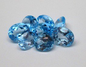 A Lot Of Approx. 25 Cts. Blue Topaz