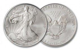 A 1 Oz. Silver Eagle Bullion