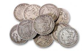Lot OF 10 Morgan Silver Dollars