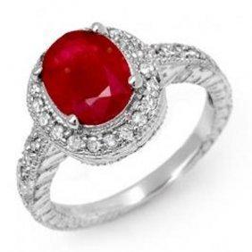 2.50 Ctw Ruby & Diamond Ring 14K