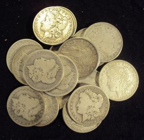 Lot Of 20 Morgan SIlver Dollars