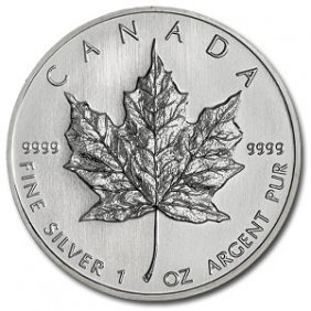 (10) Silver 1 Oz Maple Leaf Bullion