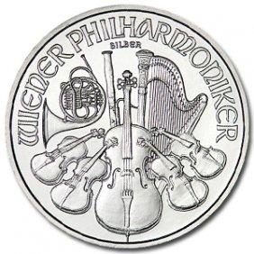 Lot Of (10) Silver Austrian Philharmonics 1 Oz