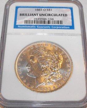 1883 O BU Morgan SIlver Dollar NGC