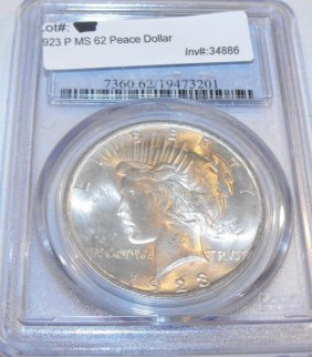1923 P MS 62 Peace Dollar PCGS