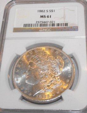 1882 S MS 61 NGC Morgan Dollar