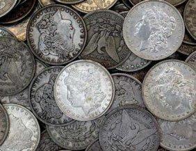 Lot Of 50 AG-AU Grade Morgan Dollars