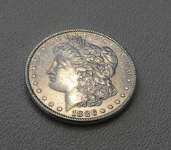 1886 P Morgan Silver Dollar