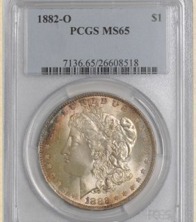 1882-O Morgan $ MS65 PCGS