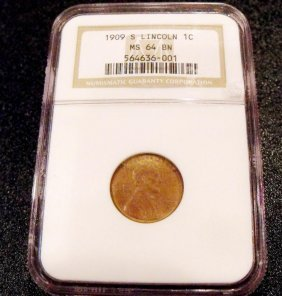 1909 S KEY Date Lincoln Cent MS 64 BN NGC