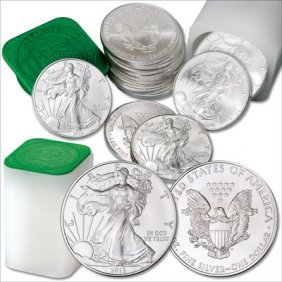 (40) 2015 Us Silver Eagles In Mint Tubes