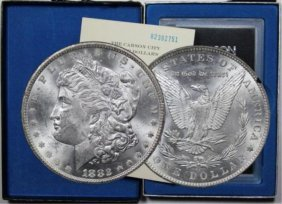 1882 Carson City Gsa Morgan Silver Dollar