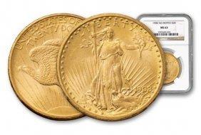1908 Ms 63 Nm $ 20 Gold Saint Gauden's Ngc