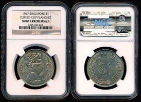 Singapore $1 1967 Error NGC MS62