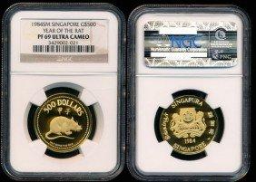 Singapore $500 1984sm NGC PF69UC