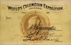 World's Columbian Expo Columbus Pass
