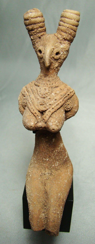Estatuilla en terracota perteneciente a la Cultura de Mohenjo Daro