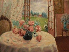"""Baudaux Monique (Belgian 1931-2009)  """"Flower Table W"""